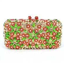 Stilvolle Schneeflocke muster Luxus Diamant Kupplung Frauen Party Abendtasche Gold Rot Damen Strass prom tasche abendessenbeutel 88189