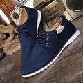 Homens Sapatos 2016 Novos Da Forma dos homens da Camurça de Couro Liso Sapatos Casuais Sólidos Calçados Masculinos Para Homens Zapatos Hombre