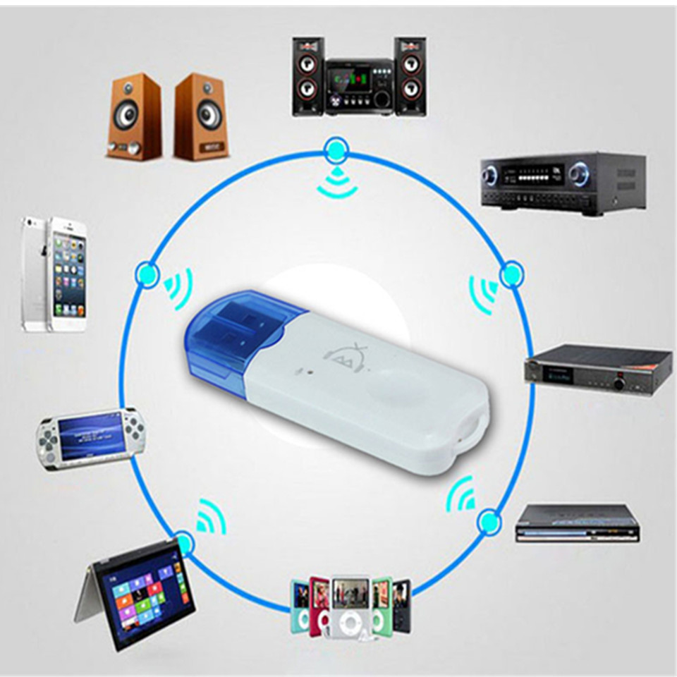 Receiver Adapter Dongle-Kit Speaker Car Audio Smart-Phones Usb Bluetooth Wireless Handsfree title=