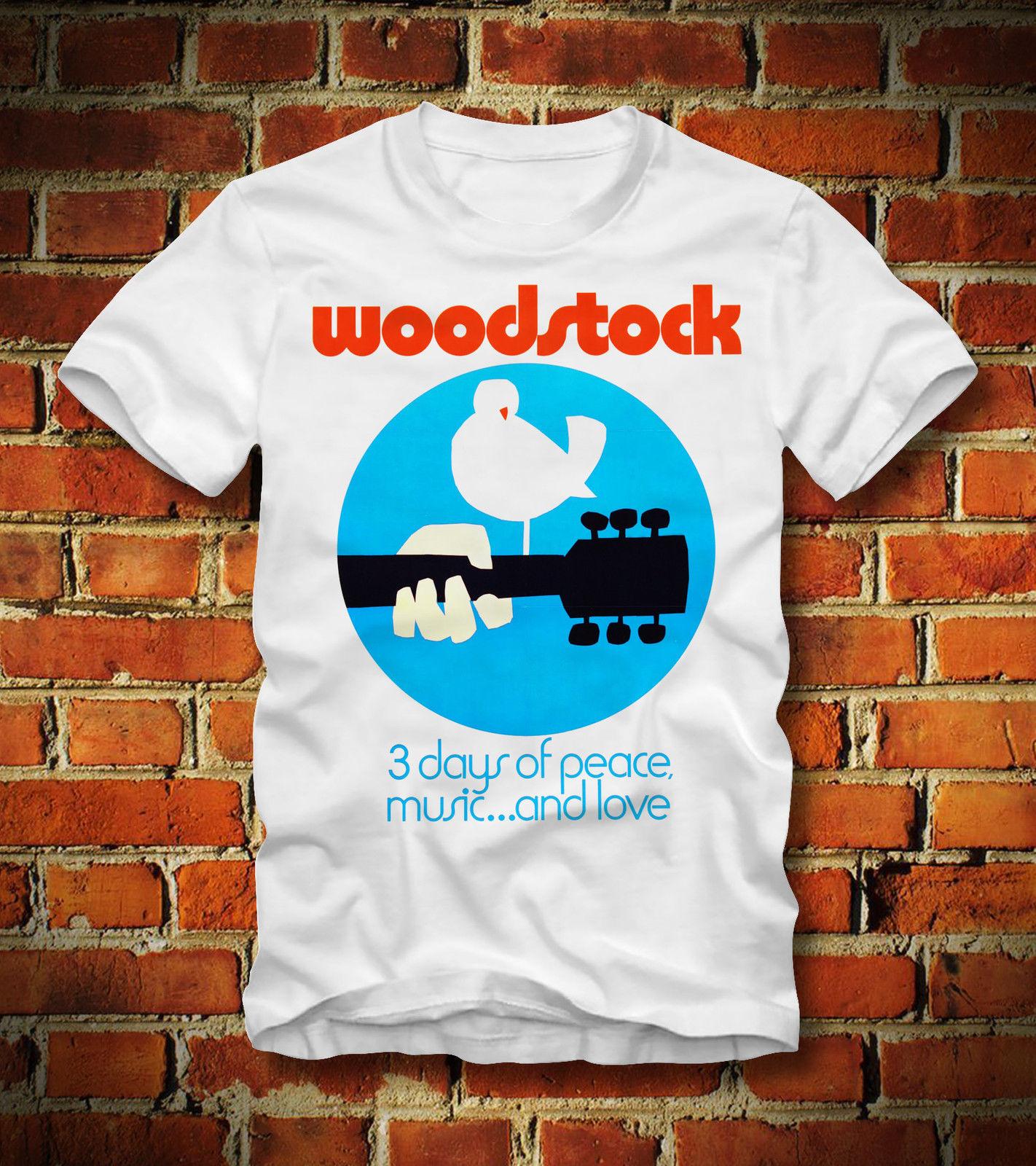 Boardrippaz T Shirt Woodstock 3 Days Peace Music Love Retro