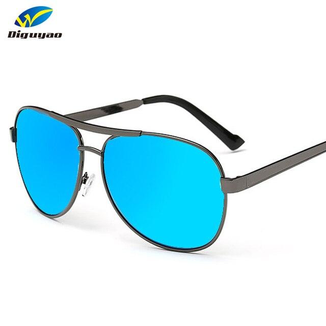 c1e42af1383 DIGUYAO Brand 2018 Fashion Woman sun Glasses Metal Frame TAC Polarized Blue  Green Purple Mirror Sunglasses