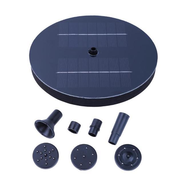 150L/H Kunststoff Outdoor Solarbetriebene Vogel Bad Wasser Brunnen Pumpe  Für Pool, Garten,