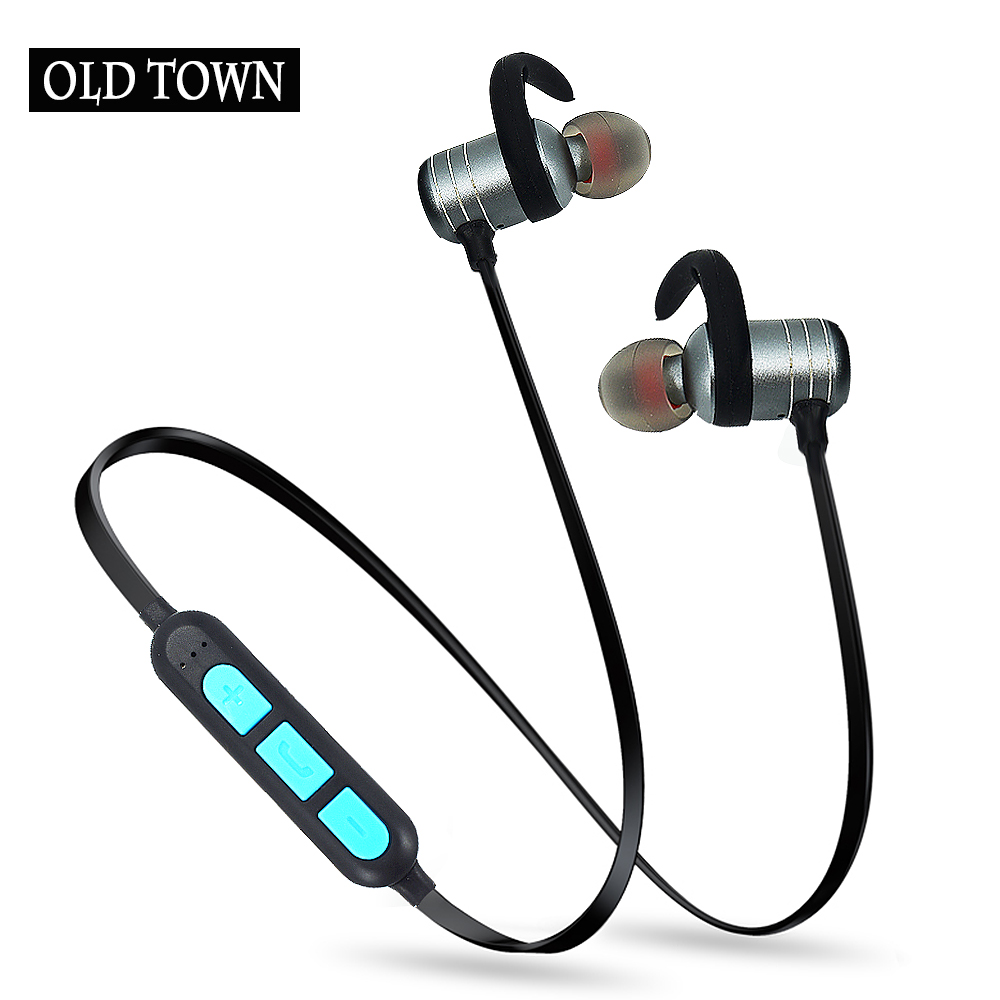 old town for apple Andrews Sport Bluetooth Earphones stereo earpods wireless headphone earphone phone Magnetic Headset with Mic