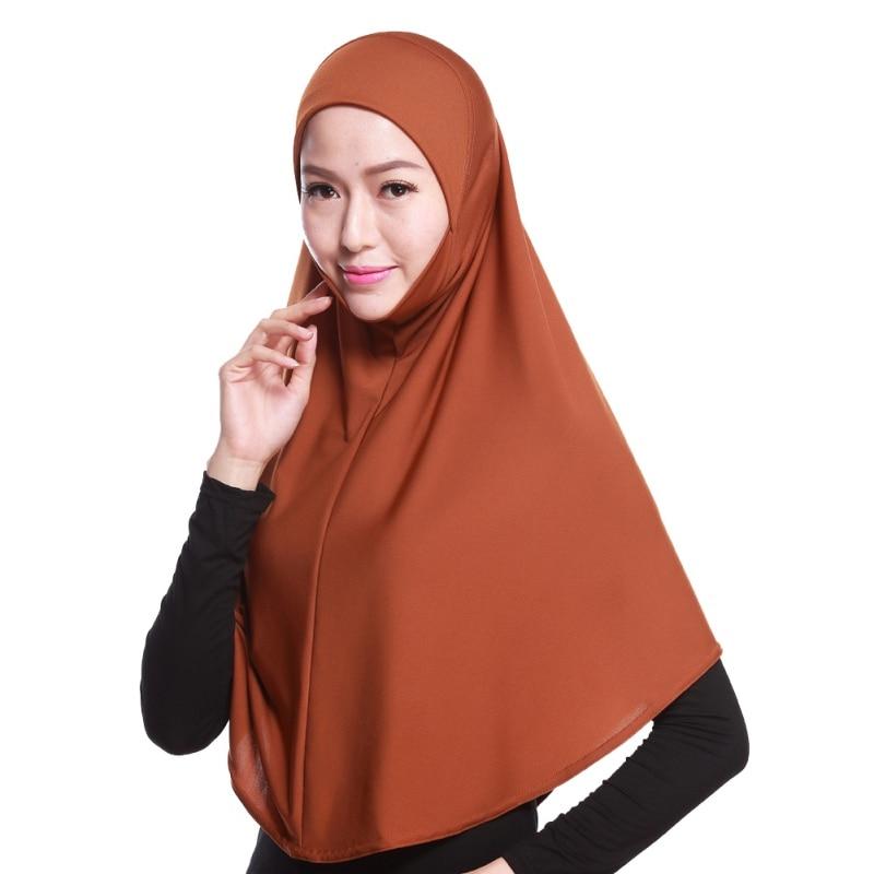 Mode Femmes Hijabs Islamique Poitrine Couverture Écharpe Bonnet - Vêtements nationaux - Photo 5