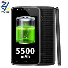 Doogee HOMTOM HT50 смартфон 4 г Android 7.0 Мобильный телефон большой Бэтти MTK6737 Quad Core 3 г + 32 г отпечатков пальцев 5.5 HD OTG 5500 мАч телефона