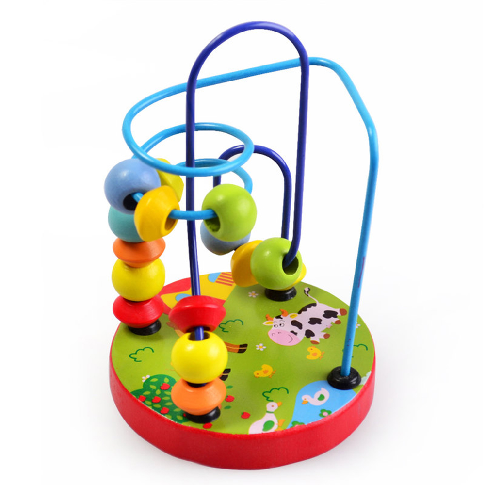 Wooden Bead Maze Roller Coaster Game Classic Educational Toys For 3 Year Old Girl Boy Gifts toys for Children