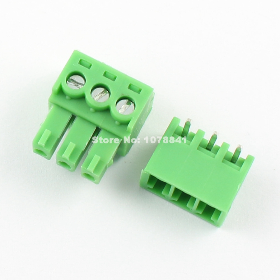 6 Pin Terminal Block Škoda 1j0973713: 100 Pcs Per Lot 3.81mm Pitch 3 Pin Right Angle Screw