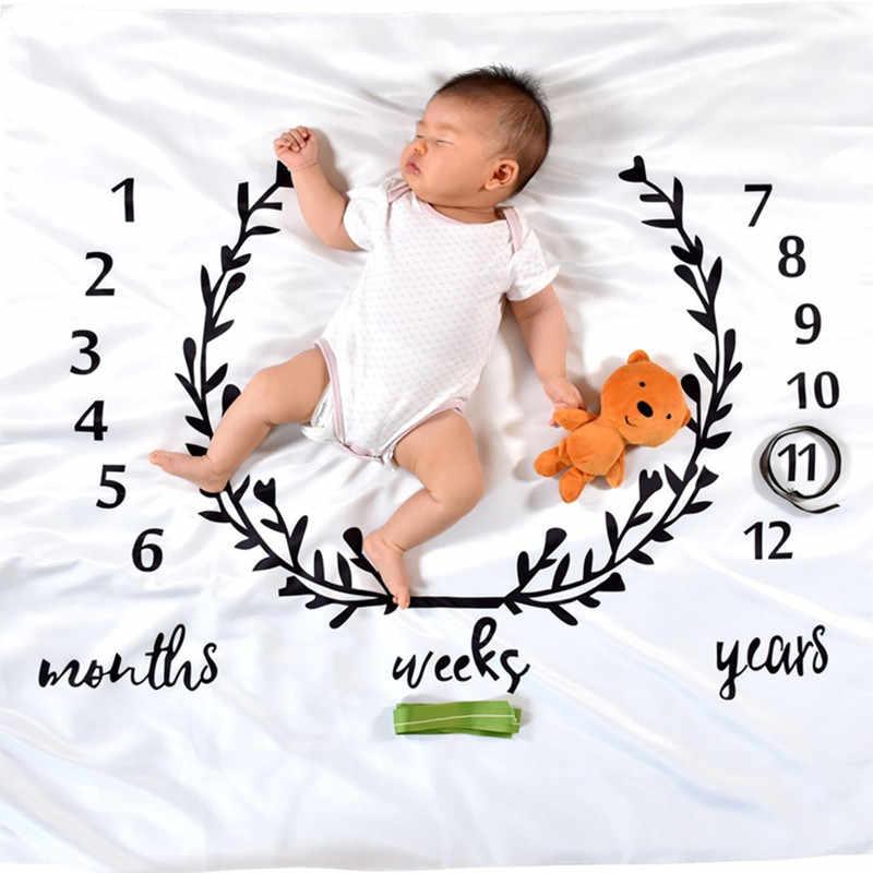 Guirlanda impressão do bebê marco cobertor fotografia mensal pano de fundo criança infantil crianças câmera foto adereços
