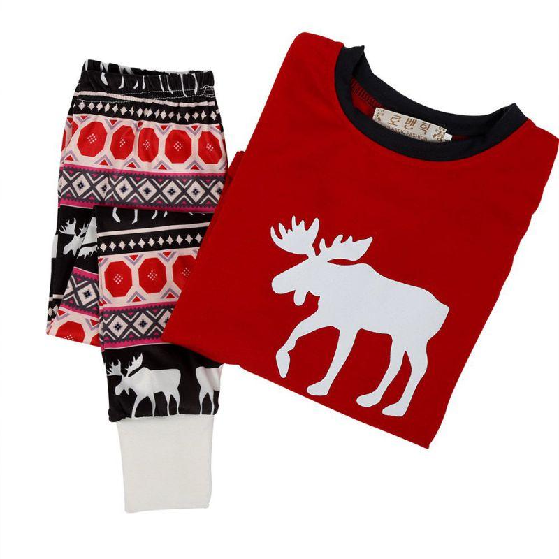 Cute Unisex Christmas Family Matching Infant Set Kids Xmas Sleepwear Baby Kids Nightwear
