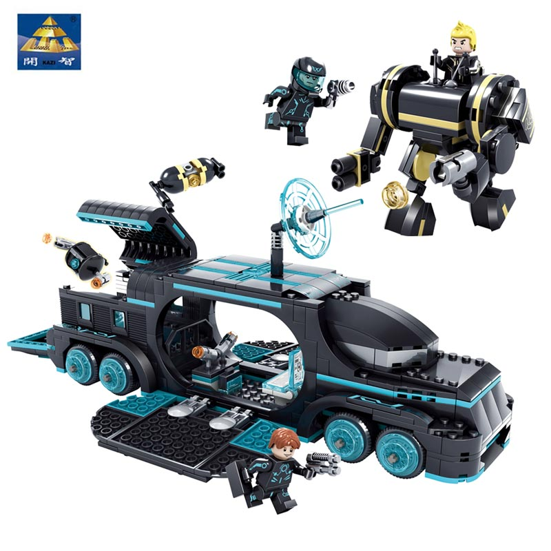 Kazi Bricks Toys Future Police 561PCS Education Toys Compatible With Lepin Star Wars Building Blocks Super Heroes