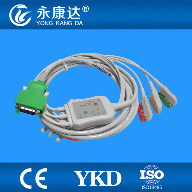 3 PCS/Lot Nihon Kohden 20 pins ECG cable with leadwires 3 leads from Chinese manufacturers
