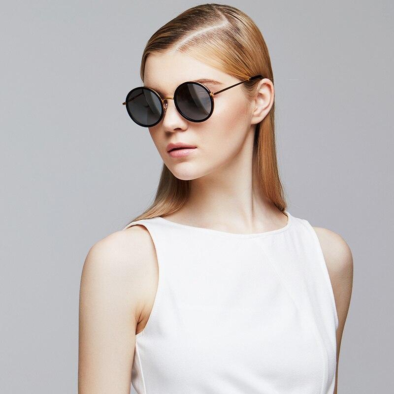 Nylon Vintage Mit Sonnenbrille Retro Yeation Unisex Runde Linsen FqvnxH