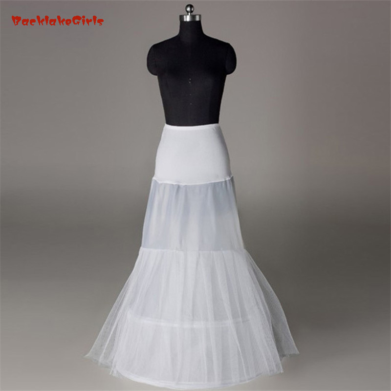 Bridal Petticoat In Stock Hot Sale 3 Hoop Mermaid Bone Full Crinoline For Dress SkirtSlip Wedding Petticoat Wedding Accessories