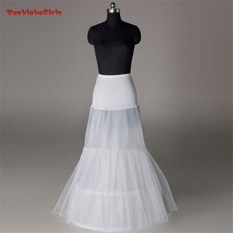 Bridal Petticoat In Stock Hot Sale 3 Hoop Mermaid Bone Full Crinoline For Dress SkirtSlip Wedding Petticoat Wedding Accessories
