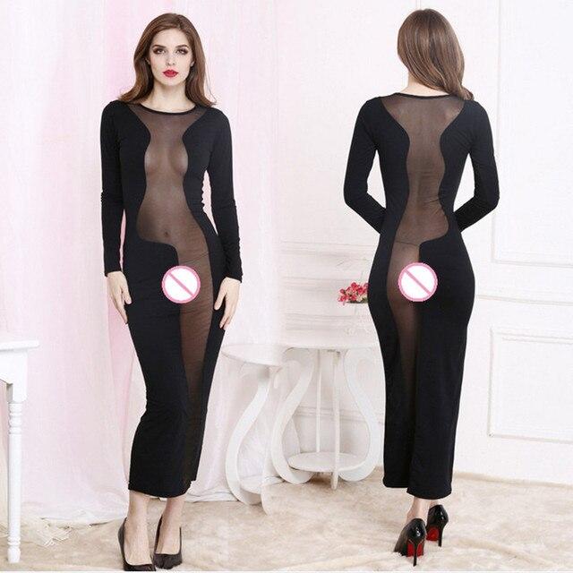 Sexy Feuillets Complets Noir Long Slip Femmes Femme Vêtements Barboteuse  Irrégulière Patchwork Lingerie Jupons Lingerie Partie c036122bc487