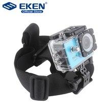 Support de sangle de tête réglable élastique pour Go pro Hero 4 3 2 accessoires de caméras avec colle anti glisse