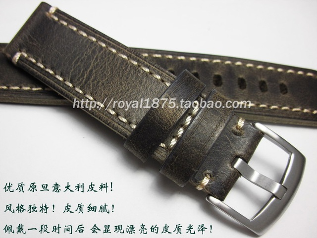 2c861670b New Retro Handmade 18mm 19mm 20mm 21mm 22mm Men Genuine Leather Watch Band  Strap For Omega