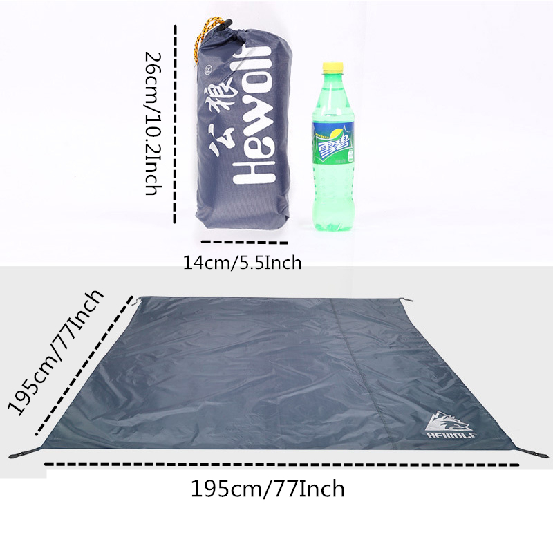 Image 2 - VILEAD Portable Camping Mat 195*195 cm Oxford Waterproof Ultralight for Picnic Camp Beach Hiking Bushcraft Travel Sleeping Pad-in Camping Mat from Sports & Entertainment