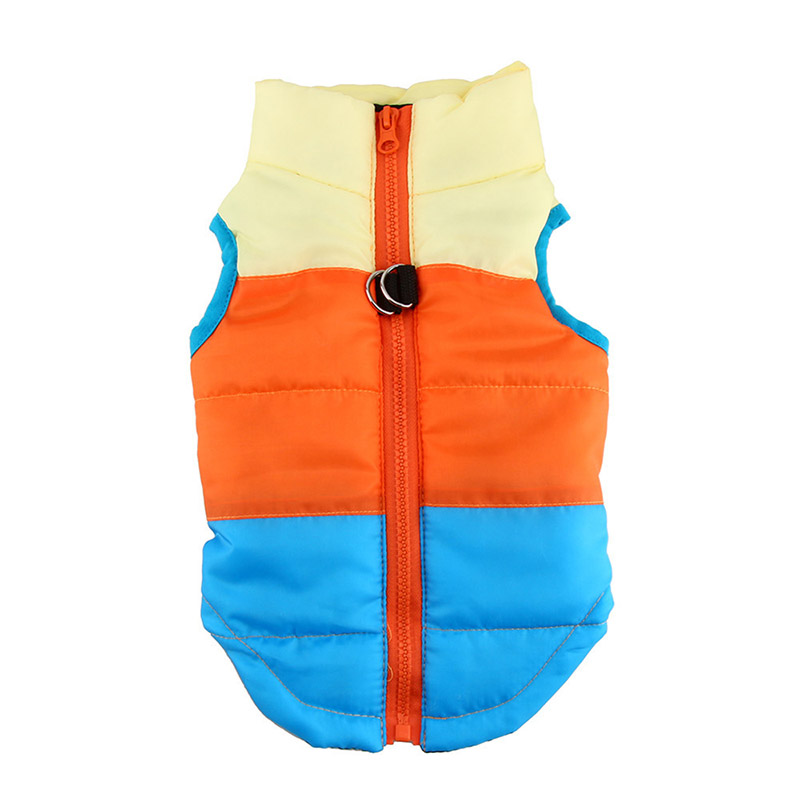 Colorful Pets Dog Warm Clothes Vest Harness Puppy Cats Coat Jacket Apparel 4 Colors Large Clothes For Dogs