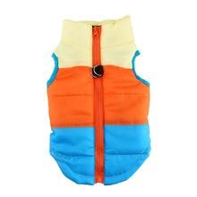 Barvita hišni ljubljenčki topla oblačila telovnik Pasje psičke mačke plašč jakna oblačila 4 barve velika oblačila za pse