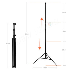 "Image 4 - 260cm Air Cushioned Heavy Duty Light Stand With Adaptor Also Support 1/4"" and 3/8"" Photo Equipment"