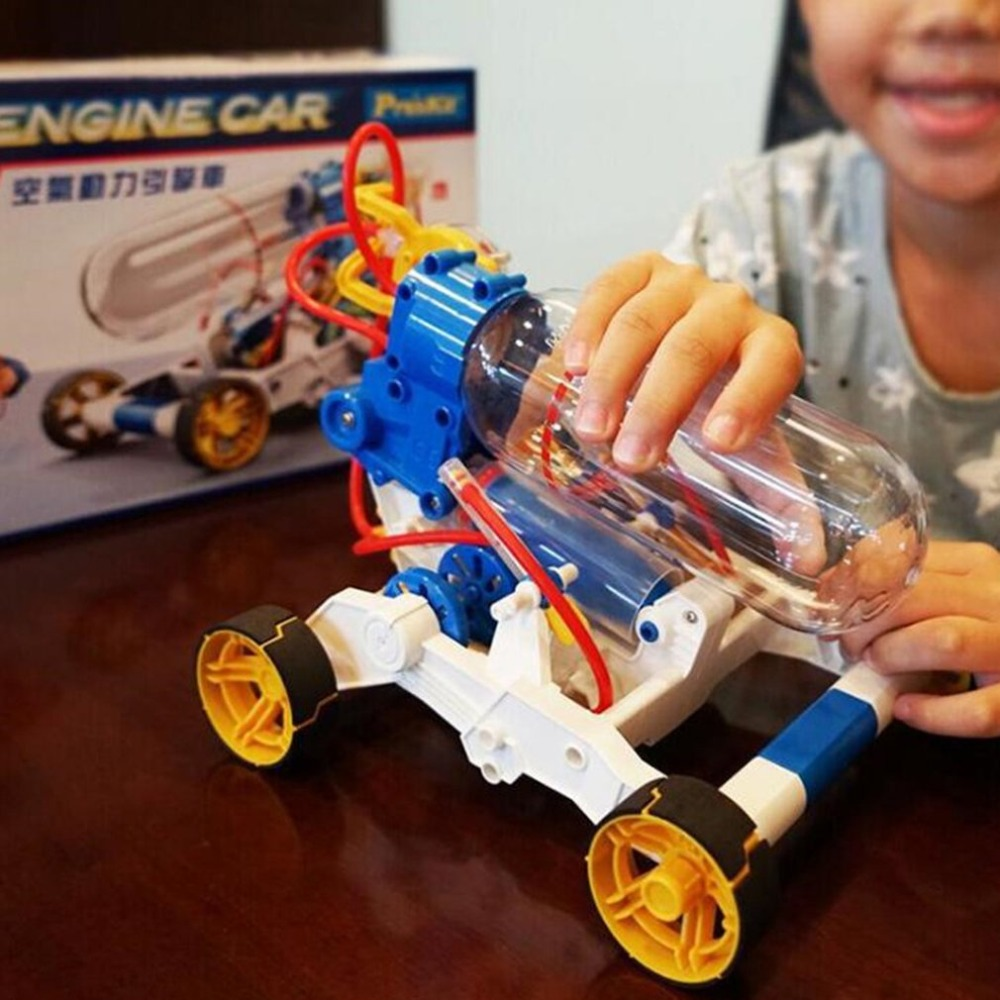 OCDAY voiture Kits d'apprentissage assemblage puissant moteur à Air voiture modèle expérience physique enfants jouet éducatif