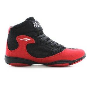 Maultby 1.0 سرعة الرجال الملاكمة التدريب التمهيد الأسود/الأحمر أحذية مصارعة