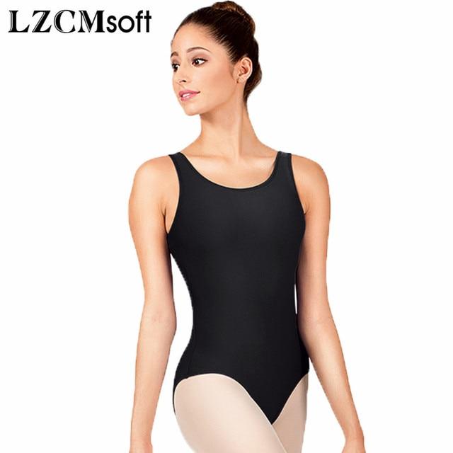 6de9b4ea49bb LZCMsoft Adult Scoop Tank Dance Leotard Women Spandex Lycra Black  Gymnastics Leotards Jumpsuit Great For Taking Ballet Class-in Ballet from  Novelty ...