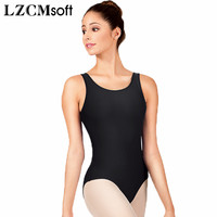LZCMsoft Adult Scoop Tank Dance Leotard Women Spandex Lycra Black Gymnastics Leotards Jumpsuit Great For Taking