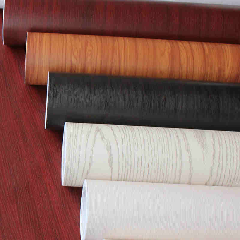 Thick waterproof self - adhesive wallpaper color film film old furniture wardrobe desk renovation stickers wood grain -472