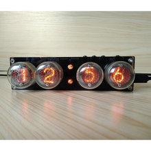 DIY 4 бит RGB светодиодный свечение цифровая плата часов Nixie трубка часы комплект DIY электронные настольные часы в стиле ретро RGB трубка не вкл