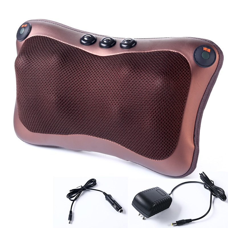 8 balls Magnet Massage Pillow home and car massage pillow cervical vertebra massager 2 buttons waist neck back massager massage pillow cervical massager neck waist and back massage cushions multifunction can be used in the car or at home