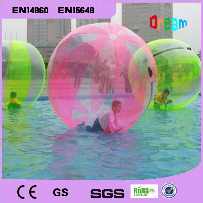 Frete grátis 2m bola de bolha de água inflável água andando bola balões de água bolas gigante inflável anti stress bola - 2