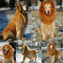 Pet Costume Dog Lion Wigs Mane Hair Festival Party Fancy Dress Halloween Costume pet lion hair,pet hair accessories
