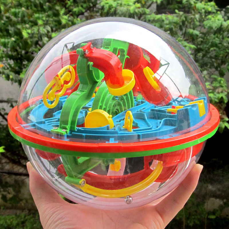 Ny 3D Magic Intellect Puslespill Maze Ball Brain Teaser Spillutdanning for Kids IQ Training Logical Puzzle Children Toy