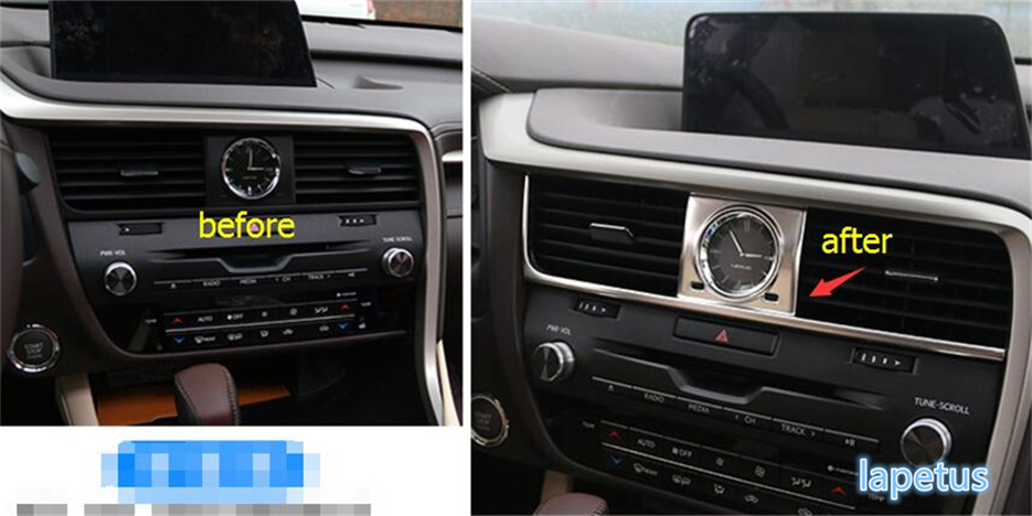 Interior For Lexus RX200T RX450H 2016 2017 2018 Central Control AC Air Conditioning Pane Decoration Molding Cover Stickers Trim