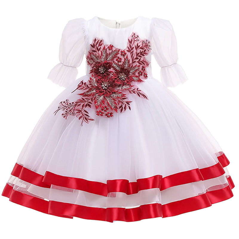 2019 Pageant Dresses Girl First Communion Dress Children's Party Clothing Kids Child Baby Costume Ball Gown  Vestido Comunion