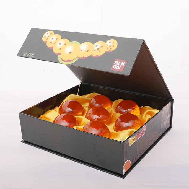 Dragon Ball 7Pcs/Set 3.5CM 7 Stars Crystal Balls DragonBall Complete Set In Box Retail