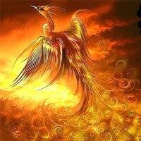 Beadwork Crafts 3D DIY Diamond Painting Phoenix Bird Drawings Pictures Of Crystals Hobby Almaznaya Mosaic Rhinestone