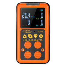 4 in 1 EU Digital Gas Detector Analyzer O2 H2S CO LEL Monitor air quality Monitor Gas Tester Carbon Monoxide Meter