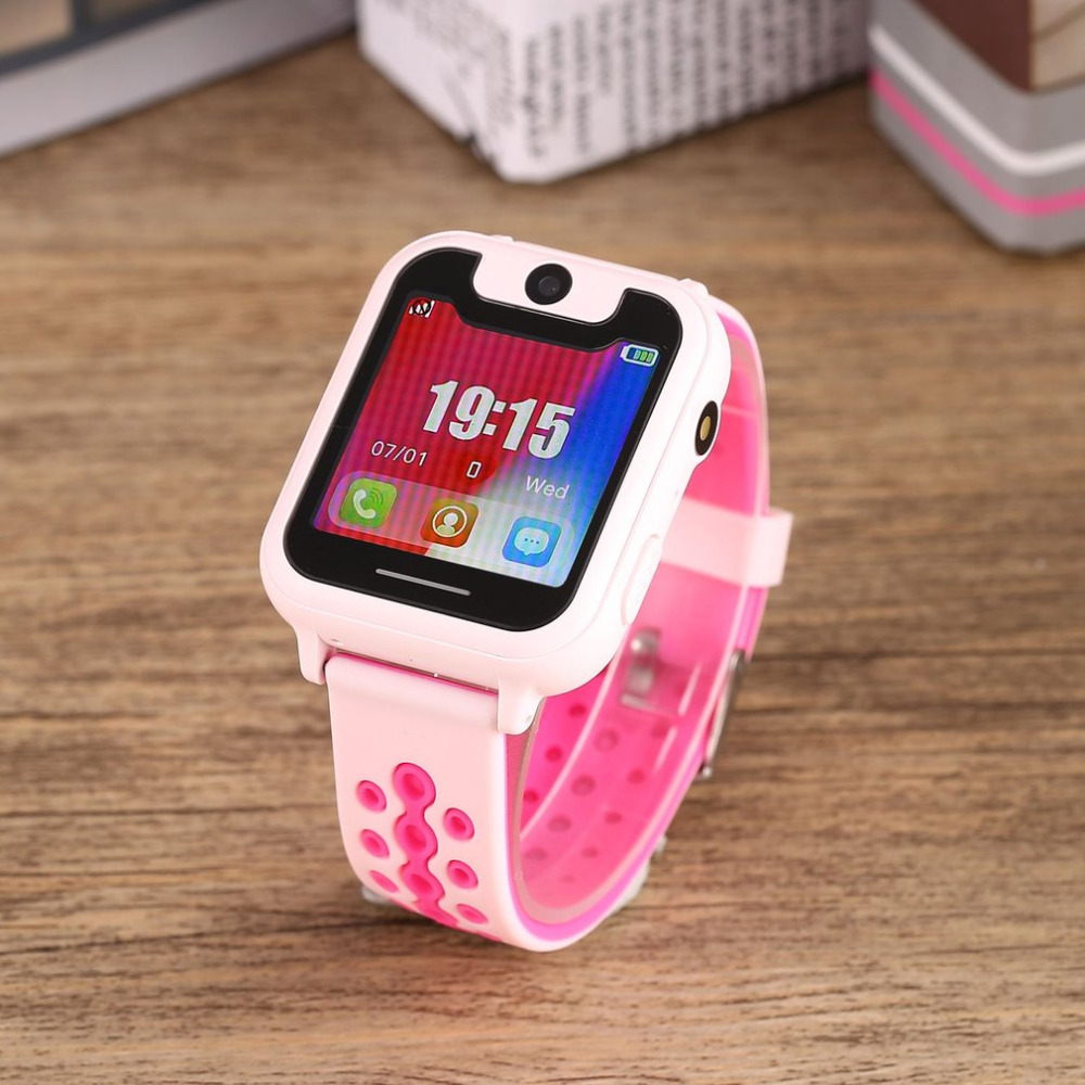 Phone Support Smart-Watch Kids Children Cute S6 Track Touch Route Sim-Camera GPRS LED