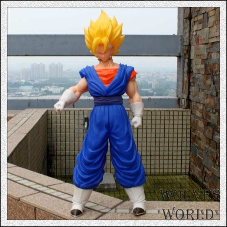 42cm anime Dragon Ball z super saiyan Golden hair son goku action figure pvc classic collection figure model gaarage kit toy 16cm anime dragon ball z goku action figure son gokou shfiguarts super saiyan god resurrection f model doll
