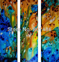 Free Shipping 3 Piece Modern Abstract Art Painting Large Wall Handpainted Picture Canvas For Home Decoration