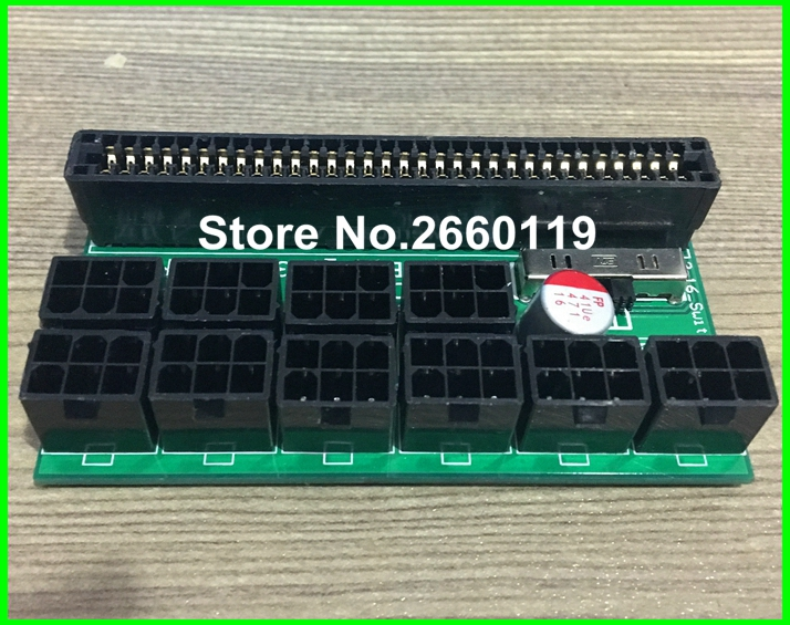 100pcs / Lot, 6pin power supply breakout board adapter For minning PSU 6 pin riser card for DPS-800 DPS-1200FB xt xinte power supply breakout board adapter dps 800gb 1200fb 1200qb for ethereum mining f21758