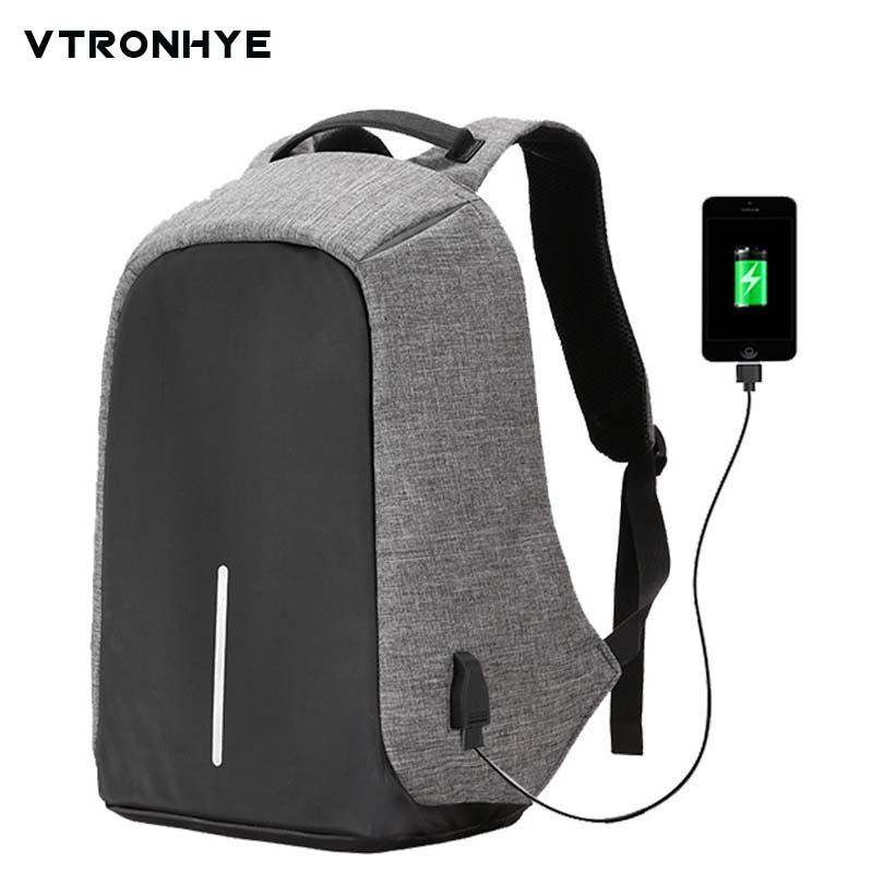 14.1 15.6 17 Inch Laptop Backpack External USB Charge Computer Backpacks Anti-theft Waterproof School Bags for Men Women Mochila kingsons 1517 laptop backpack external usb charge computer backpacks anti theft waterproof bags for men women2018new