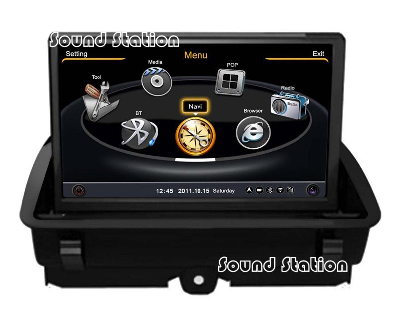 for audi q3 a1 car styling tuning accessories gps. Black Bedroom Furniture Sets. Home Design Ideas