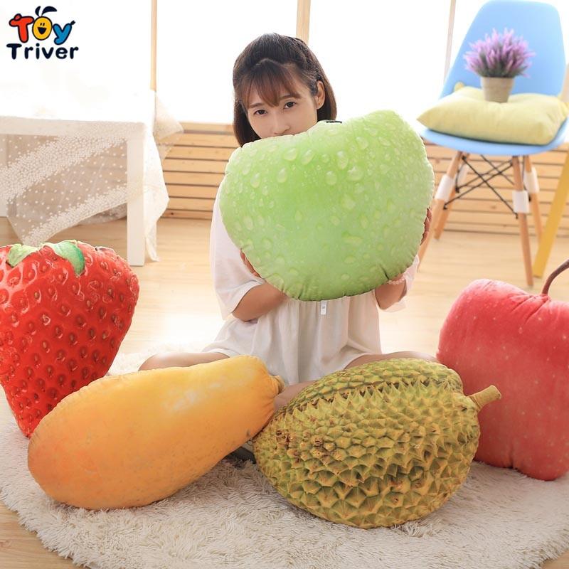 Plush noon break nap time kiwi fruit Durian Papaya Mango Juicy peach Pomegranate Strawberry Hami melon Office desk fruit pillow