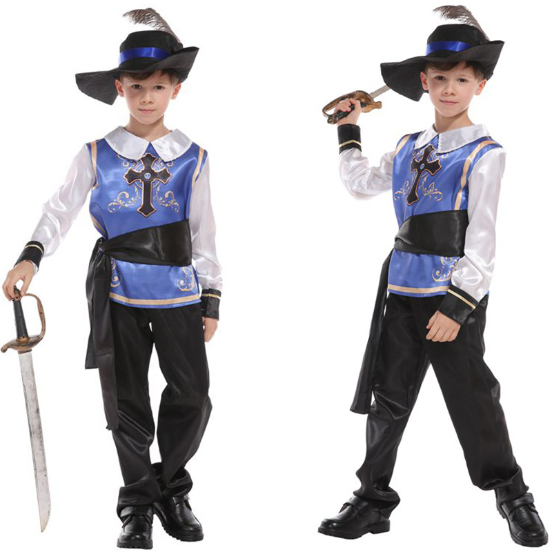 Halloween Mens Ghost Knight Crusader Soldier Fancy Dress Costume Outfit New M//L