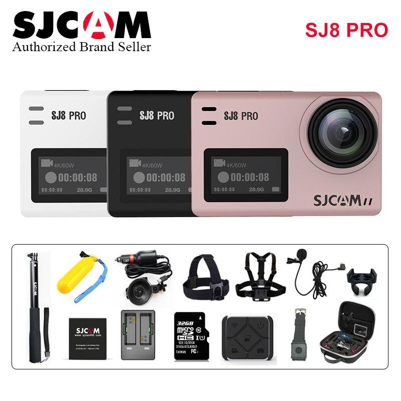 SJCAM SJ8PRO Anti-Shake Double écran tactile À Distance Sport caméra d'action WiFi 4 K 60fps Plongée 30 M Étanche Ambarella H22 SJ 8 PRO