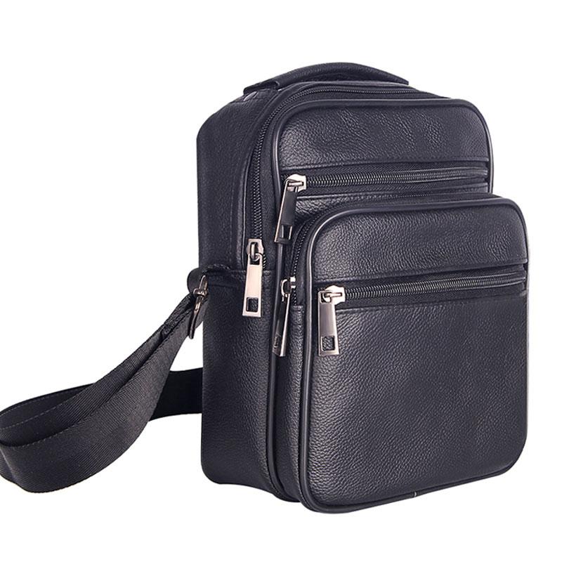 Beste Kopen Goedkoop Heren Lederen Kleine Messenger Bag Boekentassen XZ-84